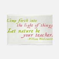 Let Nature Be Your Teacher Rectangle Magnet