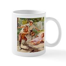 Vintage Children Play Baseball Mug