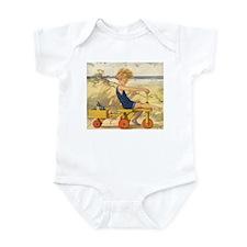 Vintage Boy on Beach Infant Bodysuit