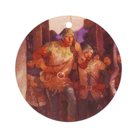 Robin Hood by NC Wyeth Ornament (Round)