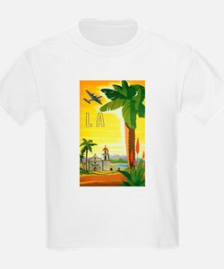 Vintage Travel Poster Los Angeles T-Shirt
