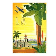 Vintage Travel Poster Los Angeles Postcards (Packa