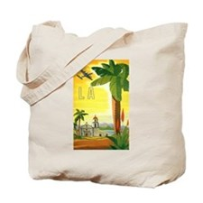 Vintage Travel Poster Los Angeles Tote Bag