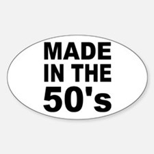 Made in the 50's Oval Decal