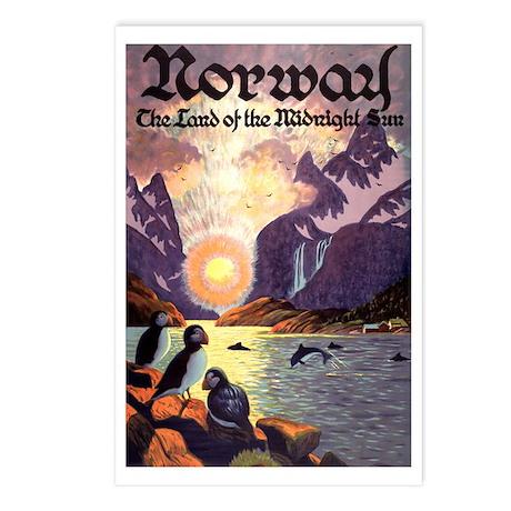 Vintage Travel Poster Norway Postcards (Package of