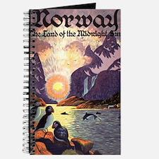 Vintage Travel Poster Norway Journal