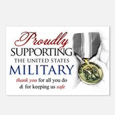 Proudly Supporting (Military) Postcards (Package o