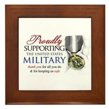 Proudly Supporting (Military) Framed Tile