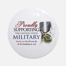 Proudly Supporting (Military) Ornament (Round)