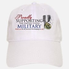 Proudly Supporting (Military) Baseball Baseball Cap