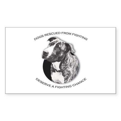 Fighting Chance Rectangle Sticker