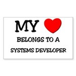 My Heart Belongs To A SYSTEMS DEVELOPER Sticker (R