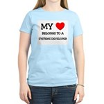 My Heart Belongs To A SYSTEMS DEVELOPER Women's Li