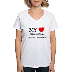 My Heart Belongs To A SYSTEMS DEVELOPER Shirt