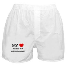 My Heart Belongs To A SYSTEMS ANALYST Boxer Shorts