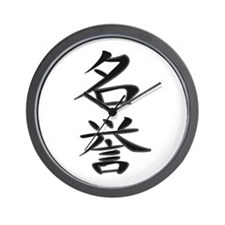 Honor - Kanji Symbol Wall Clock