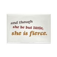 She is Fierce - Rinsed Rectangle Magnet