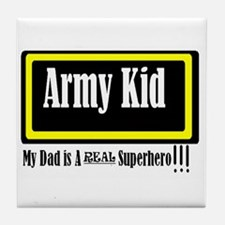 Army Kid Tile Coaster