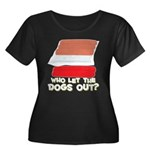 Who Let The Dogs Out? Women's Plus Size Scoop Neck