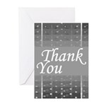 Grey Grid Thank You Greeting Cards (Pk of 20)