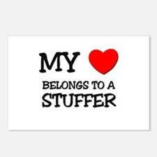 My Heart Belongs To A STUFFER Postcards (Package o