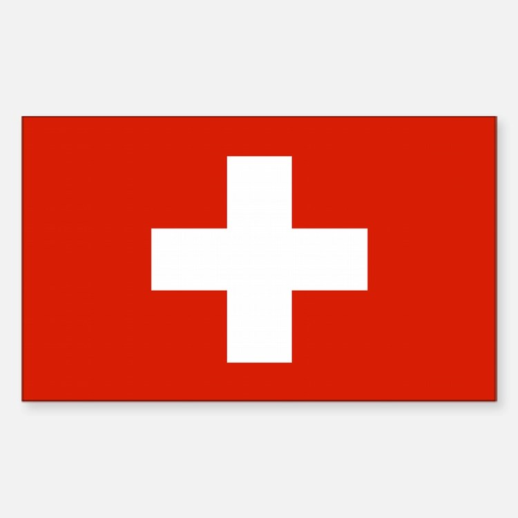 Swiss Flag Rectangle Decal