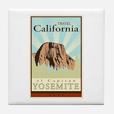 Travel California Tile Coaster