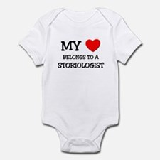 My Heart Belongs To A STORIOLOGIST Infant Bodysuit