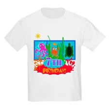 Undersea Adventure 7th Kids T-Shirt
