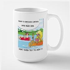 Pissing in the river mug