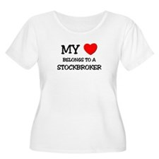 My Heart Belongs To A STOCKBROKER T-Shirt