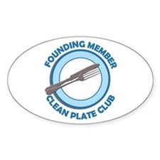 Clean Plate Club Founder Oval Decal