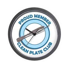 Clean Plate Club Member Wall Clock