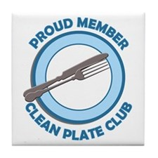 Clean Plate Club Member Tile Coaster