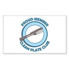 Clean Plate Club Member Rectangle Decal
