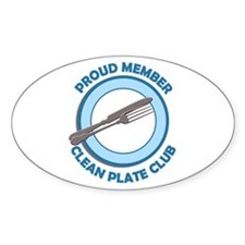 Clean Plate Club Member Oval Decal