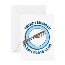 Clean Plate Club Member Greeting Card