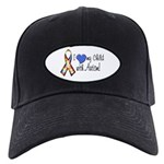 Autism Awareness Black Cap