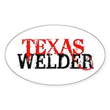Texas Welder Oval Bumper Stickers