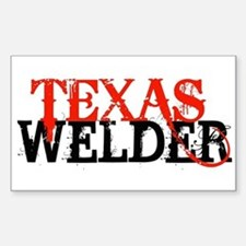 Texas Welder Rectangle Bumper Stickers