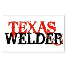 Texas Welder Rectangle Decal