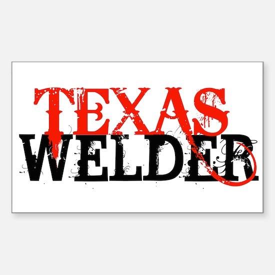 Texas Welder Rectangle Decal