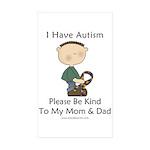 Autism Boy- Be Kind Rectangle Sticker 50 pk)