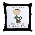 Autism Boy- Be Kind Throw Pillow