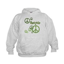 Recycle Peace Sign Hoodie