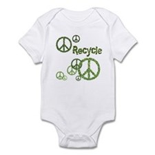 Recycle Peace Sign Infant Bodysuit