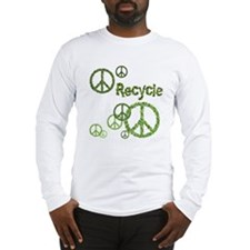 Recycle Peace Sign Long Sleeve T-Shirt
