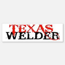 Texas Welder Bumper Bumper Bumper Sticker
