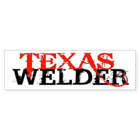 Texas Welder Bumper Sticker