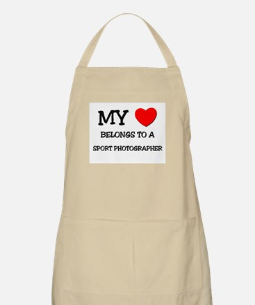 My Heart Belongs To A SPORT PHOTOGRAPHER BBQ Apron
